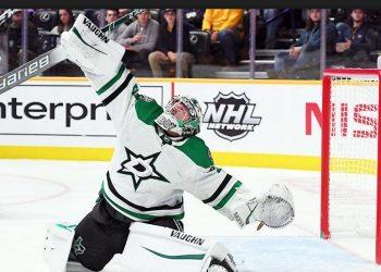 Вратарь «Далласа» Антон Худобин выбран второй звездой дня в НХЛ