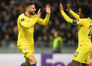 Первый хет-трик Жиру за 3 года помог «Челси» разгромить «Динамо» Киев в 1/8 финала Лиги Европы