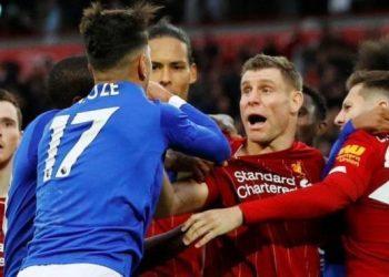 Игроки «Ливерпуля» и «Лестера» устроили потасовку после матча на «Энфилде»